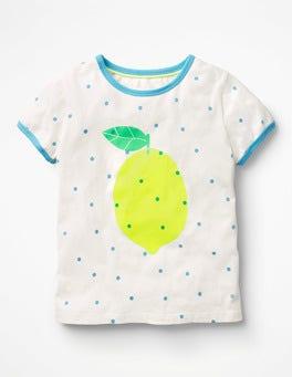 Ivory/Sail Confetti Spot Lemon Bright Print T-shirt
