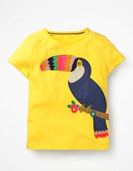 Sunshine Yellow Toucan Fluttery Animal T-shirt
