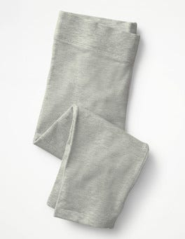 Grey Marl Plain Cropped Leggings