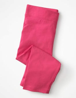Mid Pink Plain Cropped Leggings