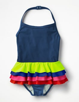 Deep Sea/Rainbow Ruffly Swimsuit