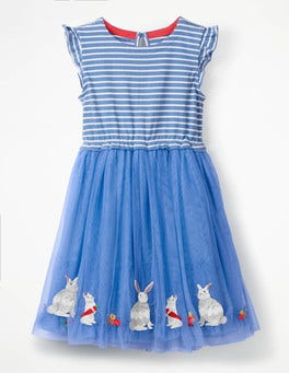 Penzance Blue Sparkly Easter Dress