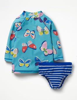 Camper Blue Butterflies Printed Surf Set