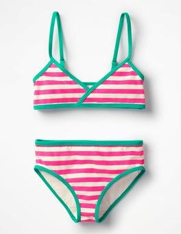 Coral Pink/Ivory Fun Bikini Set