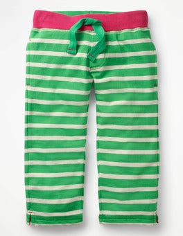 Peppermint Green/Ivory Cropped Sweatpants