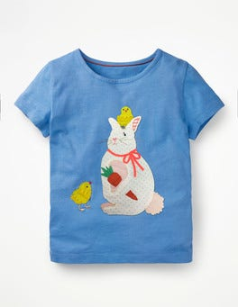 Penzance Blue Bunny Easter Animal T-shirt