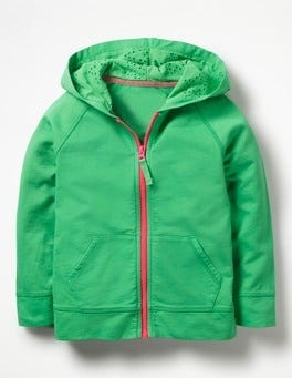 Peppermint Green Lightweight Zip-up Hoodie