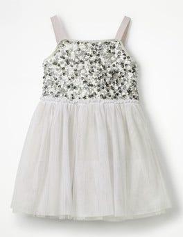Diamond Dust Grey Sparkly Tulle Ballerina Dress
