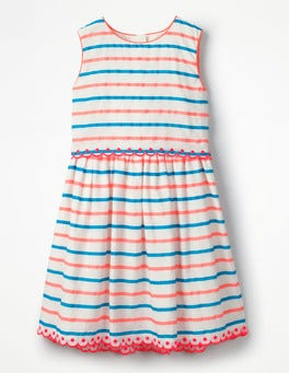 Paradise Pink/Blue Stripe Stripy Organza Dress
