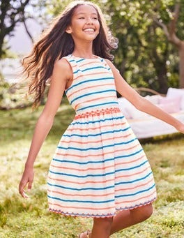 Stripy Organza Dress