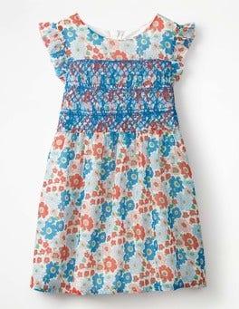 Multi Vintage Posy Posy Smock Dress
