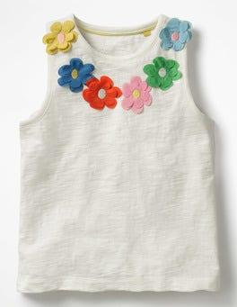 Ivory Flower Power Vest