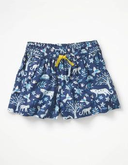 Starboard Blue Island Batik Pretty Woven Culottes