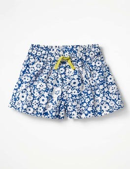 Orion Blue Surf Floral Pretty Woven Culottes