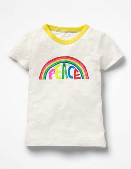 Ivory Peace Good Vibes T-shirt