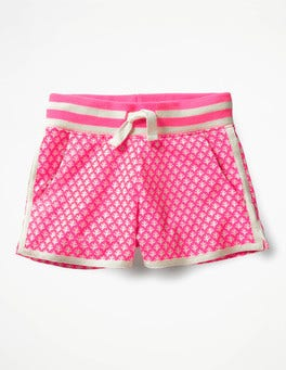 Knockout Pink/Ivory Geo Coral Easy Jersey Shorts