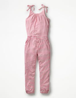 Ivory/Knockout Pink Stripe Jersey Jumpsuit