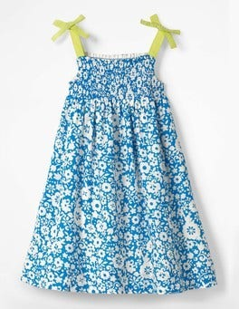 Fluoro Blue Surf Floral Surf Floral Sun Dress