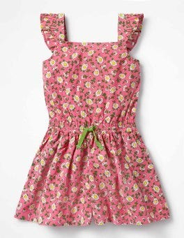 Strawberry Vintage Daisy Pretty Culotte Playsuit
