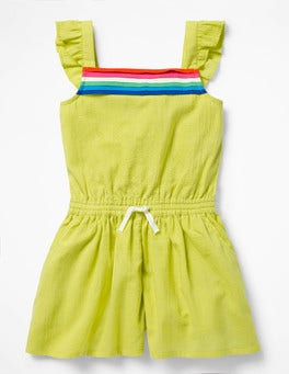 Zest Yellow Pretty Culotte Playsuit