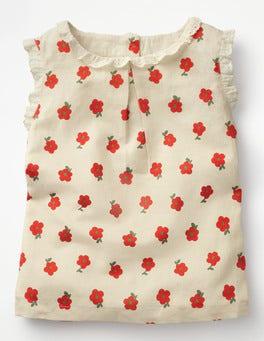 Rosehip Vintage Daisy Posy Ruffle Neck Top