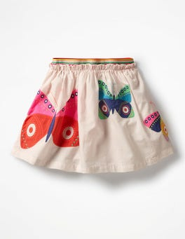 Pink Mist Butterflies Fun Appliqué Skirt