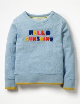 Bright Bluebell Blue Marl Adelaide Sweatshirt
