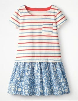 Blue Nautical Toile Eva Dress