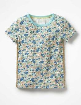 Celest Blue Flowerbed Imelda T-Shirt