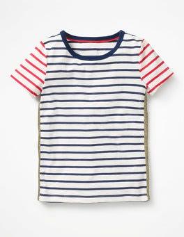 Ivory/Starboard Blue Stripe Imelda T-Shirt