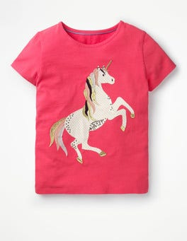 Strawberry Split Unicorn Unicorn Sequin T-shirt