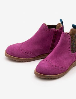 Regal Purple Leather Chelsea Boots