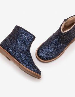 Navy Glitter Boots