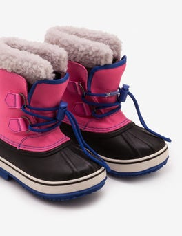 Pop Pink Snow Boots