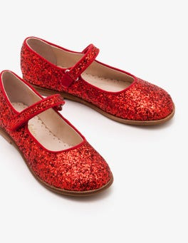 Red Party Mary Janes