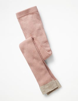 Provence Dusty Pink Ribbed Footless Tights