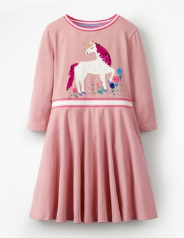 Vintage Pink Unicorn Colour-change Sequin Dress