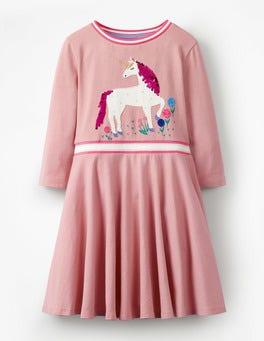Vintage Pink Unicorn Colour-change Sequin Dress