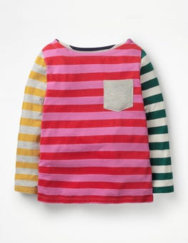 Hotchpotch Stripe Hotchpotch Pocket T-shirt