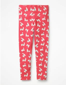 Pink Berry Llamas Fun Leggings
