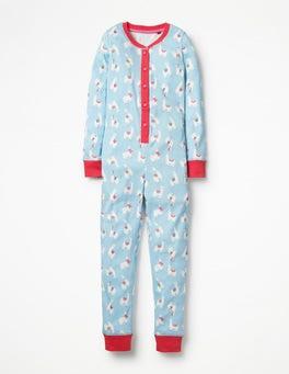 Ice Blue Llamas Cosy All-in-one Pyjamas