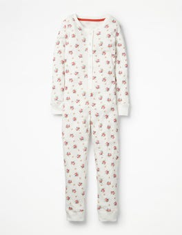 Multi Vintage Sprig Cosy All-in-one Pyjamas