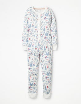 Ivory Woodblock Cosy All-in-one Pyjamas