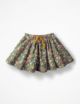 School Navy Vintage Bloom Simple Colourful Skirt