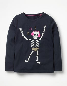 Navy Skeleton Boo-gie Nights T-Shirt
