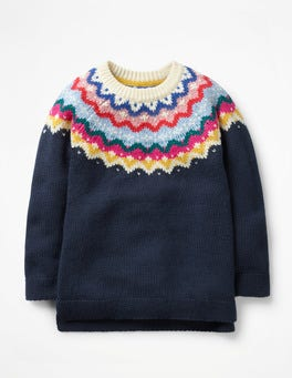 School Navy Fair Isle Jumper
