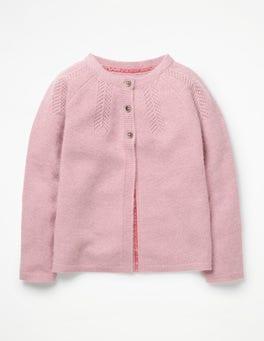Rosebud Pink Marl Cashmere Cardigan