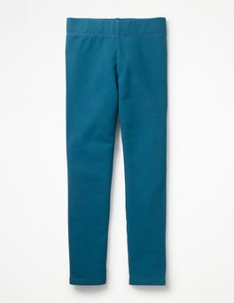 Drummer Blue Plain Cosy Leggings
