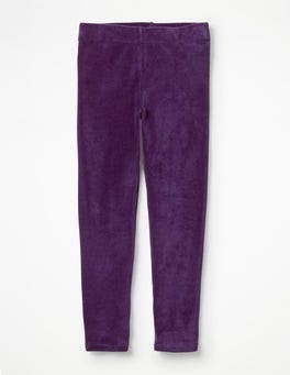 Winter Purple Velvet Leggings