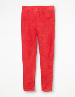 Polish Red Velvet Leggings